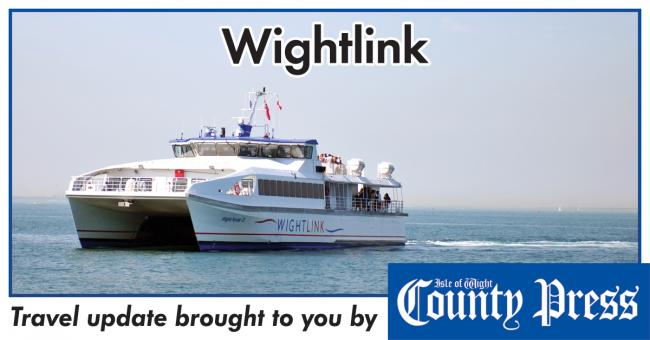 Wightlink cancels a number of its afternoon sailings — car ferry unaffected.