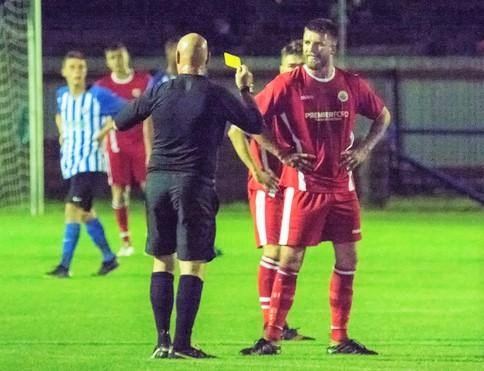 Isle of Wight County Press: Newport striker Charlie Urry was sin-binned for dissent.