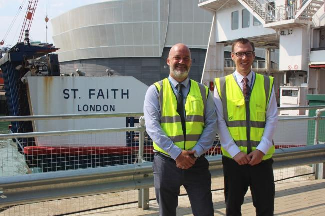 Wightlink Port Operations Managers Martin Gulliver and Arron Taylor