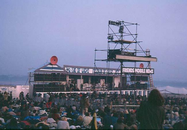 1970 Isle of Wight Festival stage, which will be recreated for Experience 1970. Picture courtesy of Roy Bowen.