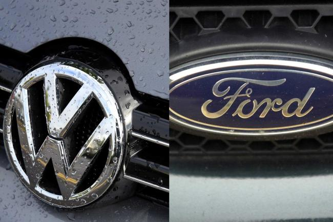 Volkswagen and Ford logo