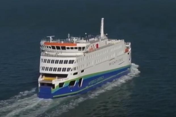 Victoria of Wight, Wightlink ferry, as seen in Wightlink video.