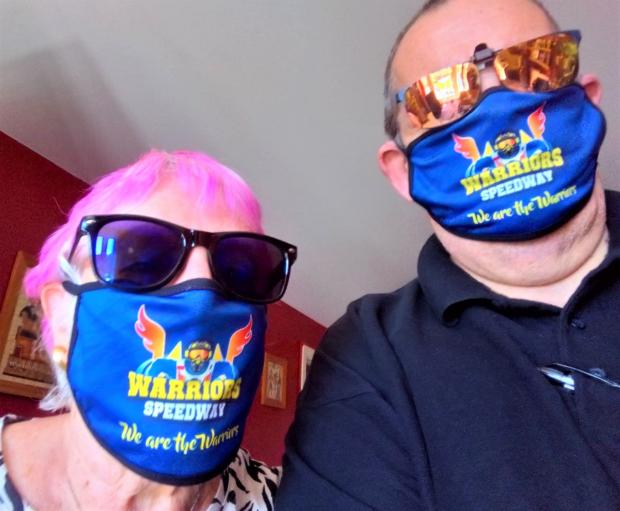 Isle of Wight County Press: Some of the Islanders using the Warriors virus masks.