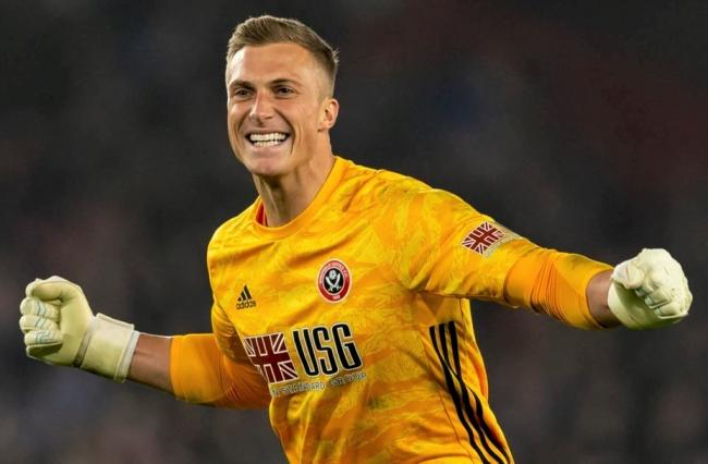 Isle of Wight-born goalkeeper, Simon Moore, celebrates promotion with Sheffield United, who were flying high in the Premier League when coronavirus struck.
