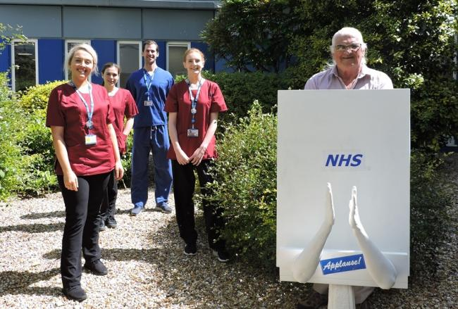 Newport man donates sculpture to Island NHS staff commemorating the clap for carers
