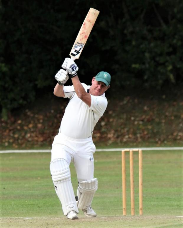 Isle of Wight County Press: Jonathan Griffiths in action in the Dave Porter memorial match, at Westhill, Shanklin, last summer.