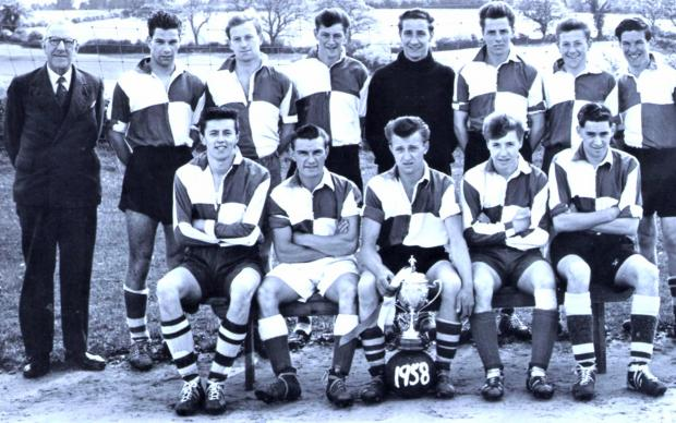 Isle of Wight County Press: Terry Mursell, front row, fourth left, was part of the Binstead side of the 1957-58 season.