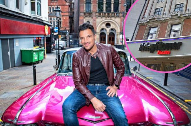 Peter Andre (Teen Angel) at the Grease press launch.