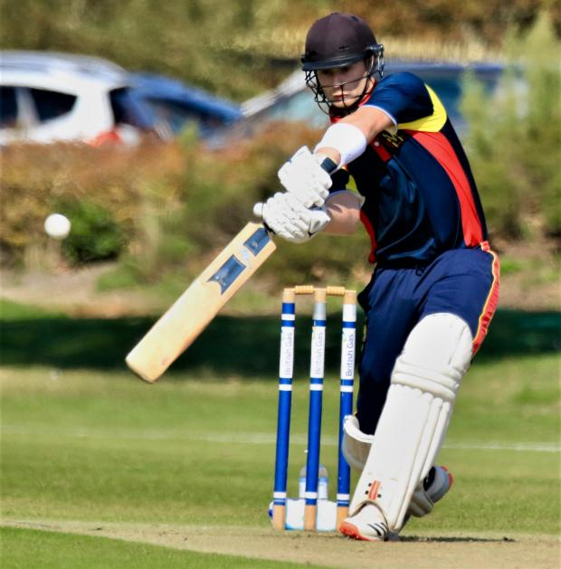 Isle of Wight County Press: Action from the MCC v IW Development XI match playing for the Keith Newbery Memorial Trophy at Newclose.