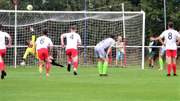 Isle of Wight County Press: Westbury miss the first of three penalties awarded against East Cowes Vics on Saturday.