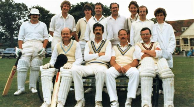 Andy, back row left, in a successful Newport team at Victoria Recreation Ground, Newport.