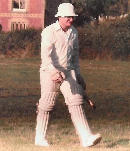 Isle of Wight County Press: Andy Long at the old Porchfield ground.