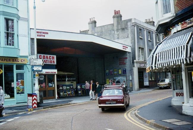 The Southern Vectis terminal at Ventnor in the mid-1970s, as pictured by Reg Davies. Photo courtesy of Alan Stroud.