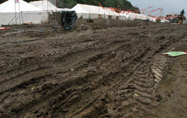 Ten years ago: The clear-up at Robin Hill after Bestival 2008.