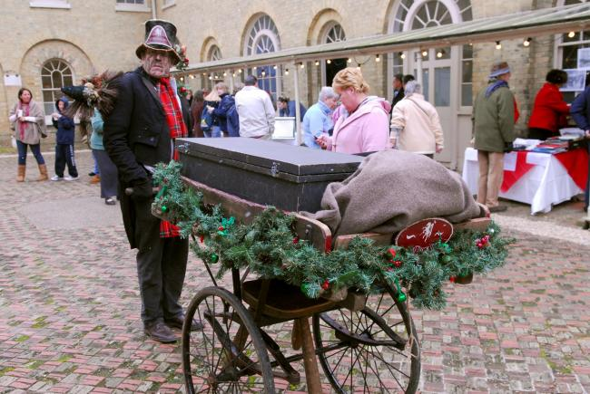 Ten years ago: Osborne House put on a Victorian Christmas. Pictured, Jim James as Mr Jim, the singing chimney sweep.
