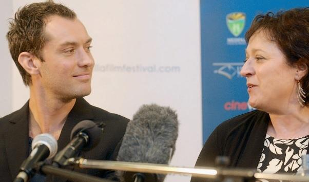 Ten years ago: Jude Law with Gioia Minghella during a press conference at the screening of The Talented Mr Ripley, as part of the Minghella Movie Marathon.