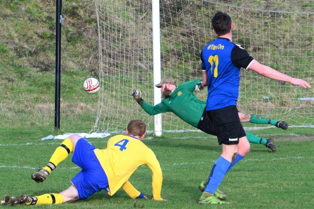 Ventnor vs East Cowes Sports last season — two of the hardest hit clubs post-Covid.  FILE